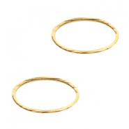Connector DQ metal oval closed ring Gold (nickel free)