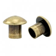 DQ metal end caps for beads with a Ø4mm threading hole Antique bronze (nickel free)