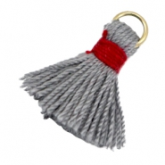 Tassels ibiza style 1.5cm Gold-grey red