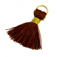 Tassels ibiza style 1.8cm Gold-chocolate brown