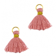 Tassels ibiza style 1cm Gold-antique rose