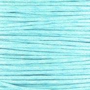 Waxed cord 1.0mm Aqua blue