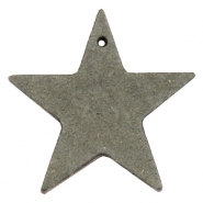 DQ leather charms star Dark olive green