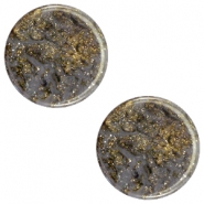 Polaris Elements stardust flat cabochon 20 mm Dark grey