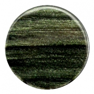 Polaris Elements sparkle dust flat cabochon 35 mm Dark classic green