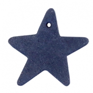 DQ leather charms star Dark denim blue