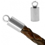 Stainless steel end cap Ø3mm Silver