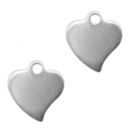 Stainless steel charm heart Silver