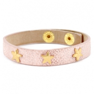 Bracelets reptile with studs gold star Metallic light vintage rose