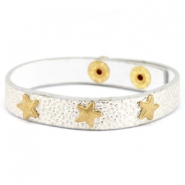 Bracelets reptile with studs gold star Metallic silver