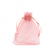 Jewellery organza bags 7x9cm Antique rose
