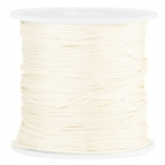 Macramé satin bead cord 0.8mm Ivory