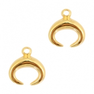 Charms hoorn DQ metal 18mm Gold (nickel free)