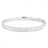 Bracelet stainless steel with strass stones Silver-crystal