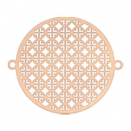 Connector bohemain round 25 mm Rose gold