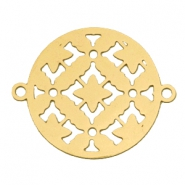 Connector round bohemian 20 mm Gold