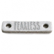 Leather DQ connector FEARLESS Light grey