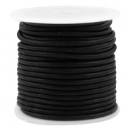 Leather DQ round 2 mm Vintage black