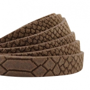 Reptile leather DQ flat 5 mm Classic brown