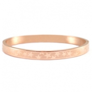 Stainless steel bracelet with star pattern Rose gold