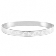 Stainless steel bracelet with star pattern Silver