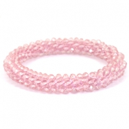Top faceted bracelets Light orchid pink