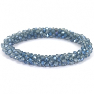 Top faceted bracelets Light montana-blue diamond coating