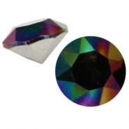 Chaton 8 mm Swarovski SS 39 Crystal rainbow dark