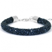 Crystal diamond bracelets 8mm Monatana blue