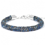 Crystal diamond bracelets 7mm Crystal-metallic blue