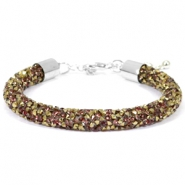 Crystal diamond bracelets 8mm Greige-Bronze