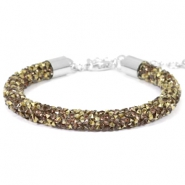 Crystal diamond bracelets 7mm Greige-Bronze