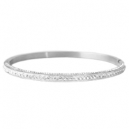 Stainless steel bracelets with rhinestones Silver