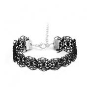 Laced bracelets Black