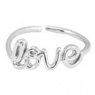 """Love"" musthave ring Silver"