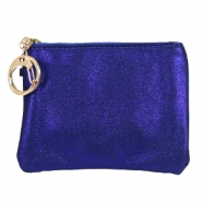 Wallet trendy Glitter indigo blue