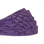 Reptile wildleder flat 5 mm DQ leather Purple