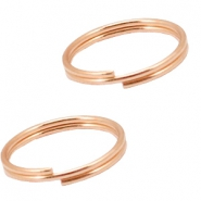 DQ metal findings splitring 10mm Rosegold