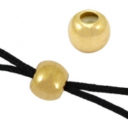 DQ findings bead macrame clasp 6mm Gold (nickel free)