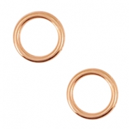 DQ metal charms circle 12mm Rosegold