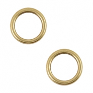 DQ metal charms circle 12mm Antique Bronze (Nickel free)