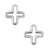 DQ metal charms cross Antique silver (nickel free)