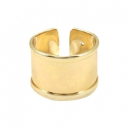 DQ metal findings basic ring (for 10mm cord / leather) Gold (nickel free)