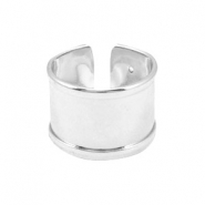 DQ metal findings basic ring (for 10mm cord / leather) Silver (nickel free)