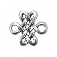 Basic Quality metal charms baroque 16x16mm Antique Silver