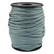 Round trendy 4 mm paracord green grey