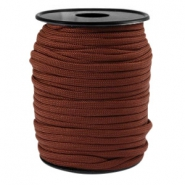 Round trendy 4 mm paracord Chestnut brown