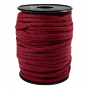 Round trendy 4 mm paracord Aubergine red
