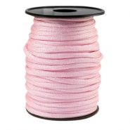 Round trendy 4 mm paracord Licht rose