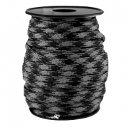 Round trendy 4 mm paracord black-grey